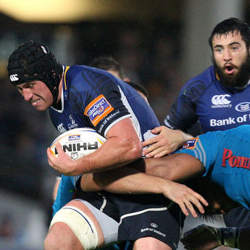 Ciaran Ruddock in action for Leinster against Aironi