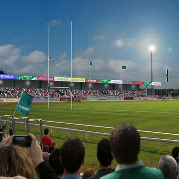 An artist's impression of the redeveloped Sportsground
