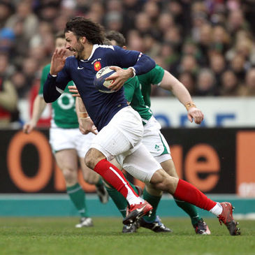 Clement Poitrenaud in action against Ireland