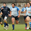 New Zealand Maori prop Clint Newland is pictured running with his new Leinster team-mates