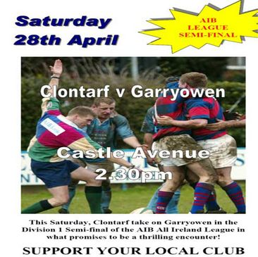 Clontarf's poster for the semi-final