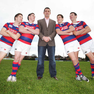 Alan Quinlan with the Clontarf players