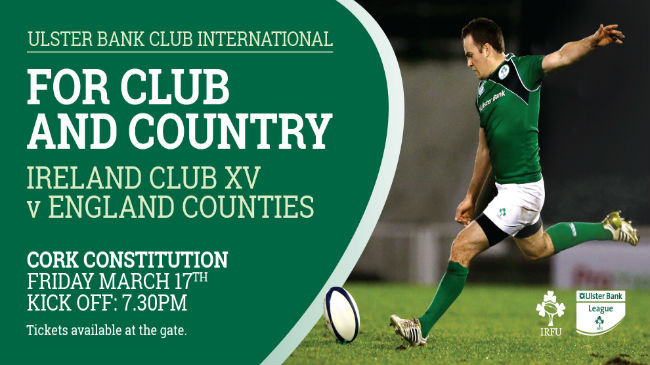 Deasy To Captain Ireland Club XV Against England Counties