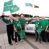 Malahide RFC members Mick Breen, Ronan Breen, Michael Dawson, Rory O'Driscoll and Peter Denis are pictured at the club for the IRFU 'Big Breakfast' event