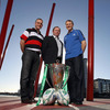 The coaches of the three Irish teams in the Heineken Cup - Ulster's Brian McLaughlin, Tony McGahan of Munster and Leinster's Joe Schmidt