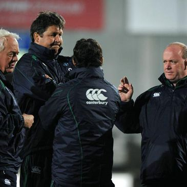 Ireland coaching staff at a training session
