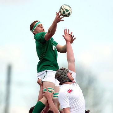 Colm Joyce-Ahearne in action for the Ireland U-18 Clubs side