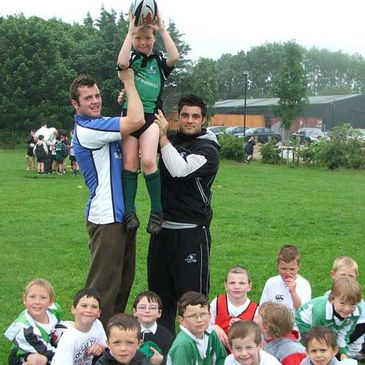 David Gannon and Ronan Loughney at the Dangan camp