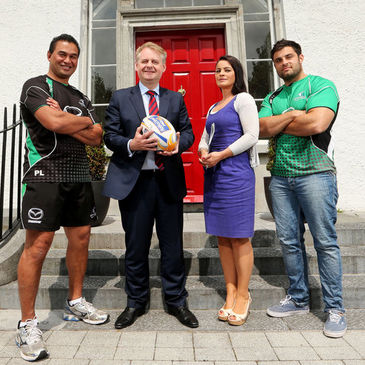 Connacht's Pat Lam and Ronan Loughney at the launch