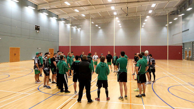 The Connacht squad training indoors this week