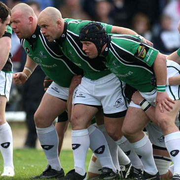 Connacht's Robbie Morris, Adrian Flavin and Brett Wilkinson