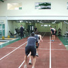 The Connacht players are seen making use of the running track which is part of the new gym