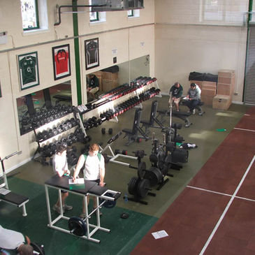 A view of the Connacht Rugby gym