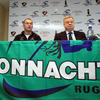 Eric Elwood and Connacht Branch President Jim Foy are pictured at the press conference to announce the new structures for Connacht Rugby