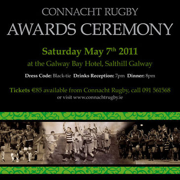 Tickets are available for the annual Connacht Rugby Awards