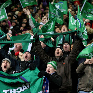 Connacht fans in full voice