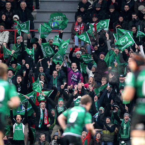 The Connacht fans made their presence felt in Toulouse