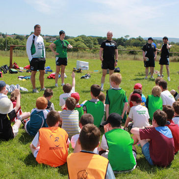 The kids get a chance to quiz the Connacht players