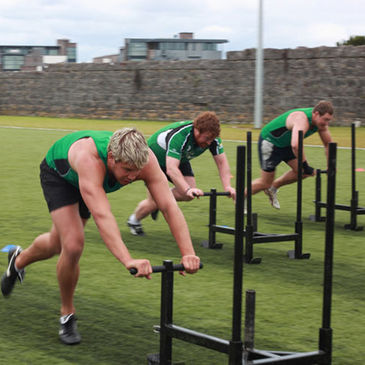 Connacht's Thomas Anderson, Jamie Stephens and Michael Swift