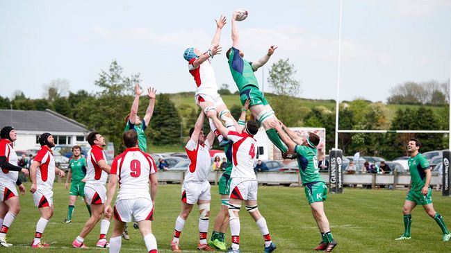 Lineout action from last week's clash of Connacht and Ulster juniors