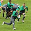 It is a case of the young and the old for Ireland at half-back again this week, with Conor Murray, the youngest member of the squad at 22, playing alongside elder statesman Ronan O'Gara