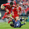 Conor Murray sparked a break along the right wing which might have led to another try for Munster before the break