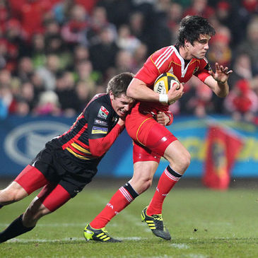 Munster's Conor Murray in action against the Dragons