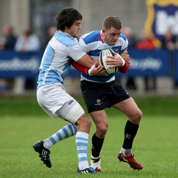 Action from last season's Blackrock v Garryowen encounter