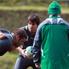 Conor Murray, who played for Garryowen in last season's Ulster Bank League, waits to feed the ball into a scrum