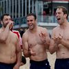 It seems that Alex Corbisiero, Jamie Roberts and Alun Wyn Jones did not think much of some of their Lions team-mates' attempts at surfing