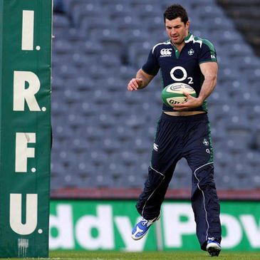 Rob Kearney goes through his paces at Croke Park