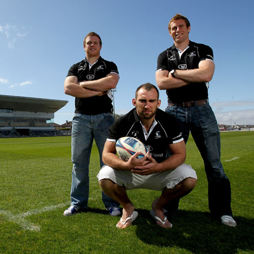 Connacht's Sean Cronin, John Muldoon and Gavin Duffy