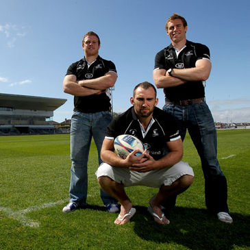 Sean Cronin, John Muldoon and Gavin Duffy at the Sportsground