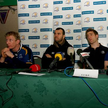 Leinster's Leo Cullen, Michael Cheika and Luke Fitzgerald