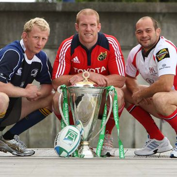 Team captains Leo Cullen, Paul O'Connell and Rory Best