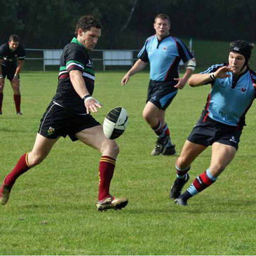 Action from the DLSP v Belfast Harlequins tie