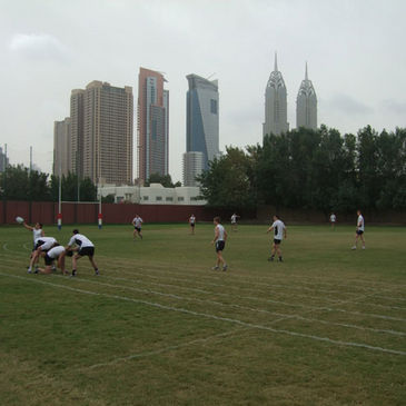 The Ireland Sevens squad training in Dubai