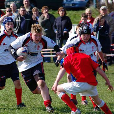 Action from Malone v UL Bohemians at the U-12s' Festival of Rugby