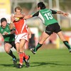Scarlets winger Dafydd James was an elusive runner during the first half, as Connacht's Troy Nathan found out