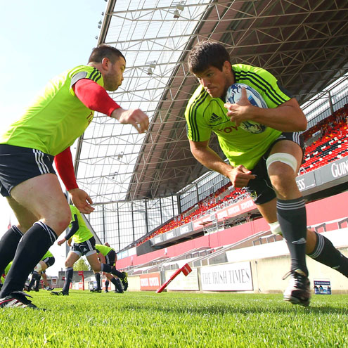 Munster Squad Training At Thomond Park, Tuesday, April 26, 2011