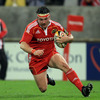 Hooker Damien Varley dashes over to score Munster's second try in their bonus point victory over Benetton Treviso