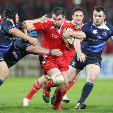 Hooker Damien Varley in action for Munster