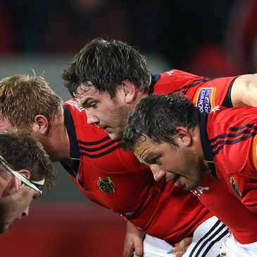 Damien Varley in the Munster front row