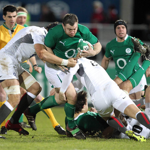 Photos of the Ireland Wolfhounds' victory over England Saxons