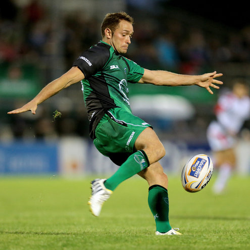 Dan Parks in action for Connacht