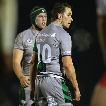 Connacht's Eoin McKeon and Dan Parks