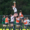 Ulster ace Dan Tuohy towers above the opposition as he claims a lineout ball during Thursday's training stint
