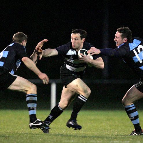 Daniel Riordan spearheads an attack for Old Belvedere