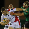 Connacht prop Brett Wilkinson puts in a tackle on Ulster's Darren Cave during the last round 4 match this weekend