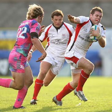 Darren Cave on the attack for Ulster